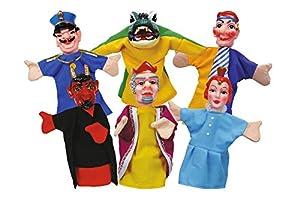 Simba 104586784 - Set de 6 marionetas de mano, 10 cm Importado de Alemania , Modelos/colores Surtidos, 1 Unidad