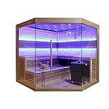 EO-SPA Sauna E1242 XL rote Zeder/250x250/12kW EOS Cubo