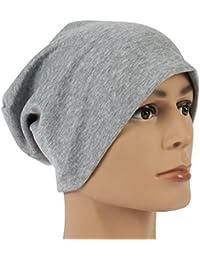Ultraleichte Sommer Unisex Beanie in grau klassische Mütze Slouch Cap Unisex waschbar mit Stretchanteil
