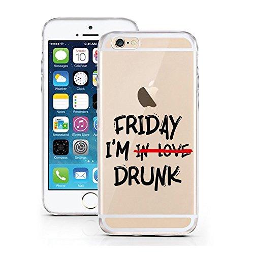 Blitz® FOYER motifs housse de protection transparent TPE caricature bande iPhone Chic Happens M12 iPhone 5 Friday IM Drunk M9