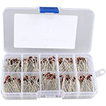 Sunkee 25 value 250pcs 1//2W 0.5W Zener Diode 500nw 2.4V 33V Glass Diodes Assortment Kit