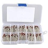 HALJIA 200 Pcs 10 Value 1W Zener diode Assorted Kit Set, Model: 1N4728 1N4729 1N4730 1N4731 1N4732 1N4733 1N4734 1N4735 1N4736 1N4737