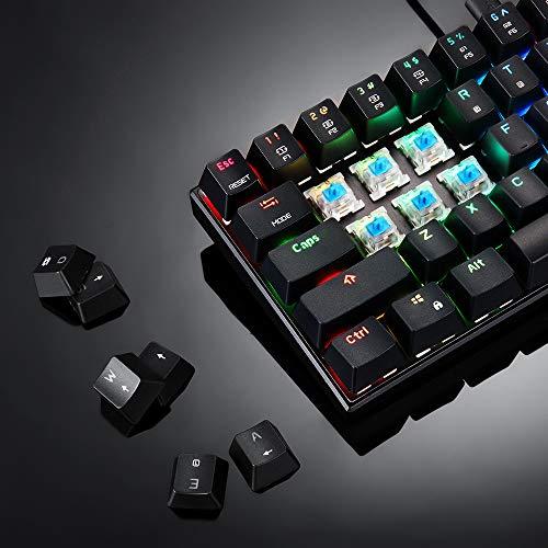 YHL Wireless Keyboard Ergonomische Tastatur Mit Blau/Schwarz-Hintergrundbeleuchtung Schalter 61-Key Gaming Keyboard 2 Ms Reaktionsgeschwindigkeit Für Gamer