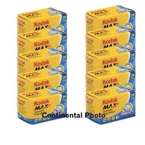 10Rollen Kodak GC 135-24MAX 400Color Print 35mm Film ISO 400
