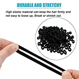 #5: 50 Pieces New Black Mini Hairbands Girl Baby's Elastic Hair Ties Tiny Soft Rubber Bands for Baby Kids