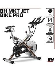 BH - H9162RF - Fitness Mkt Pro - Vélo de biking (Frein à friction et Transmission courroie Poly-V)- Mixte Adulte - Gris (Argenté) - Volant d'inertie 22 kg