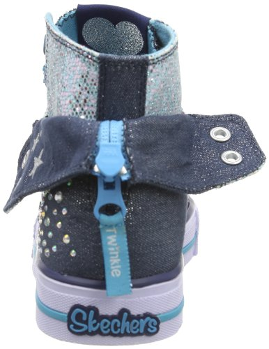 Skechers - Shuffles rock N' Beauty, S light shuffles ROCK N BEAUTY Bambina Blu (Blau (DNTQ))