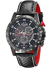 GV2by Gevril Herren 9900Scuderia Analog Display Swiss Quartz Black Watch