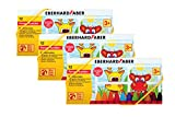 Eberhard Faber Mini Kids Club 524112 / Wachsmalkreide für Fenster / 12 Stück im Kartonetui, Menge:3er Pack