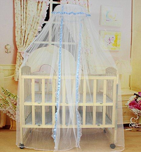 DexterityKing mosquito net Baby Bett Moskitonetz Kinderbett Moskitonetz Tür Typ Moskitonetz Dome, blau, 170 * 470 cm