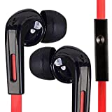iSOUL� In Ear Earbuds Universal 3.5mm Jack Stereo Handsfree Headphones Earphones With Mic And Volume Control Remote For All Mobile Phones iPhone 6/6 Plus 5 5S 5C 4 4S 3G 3GS iPod Touch Nano iPad 2 3 4 Air Mini Samsung Galaxy S6 Edge S5 S4 S3 S2 S Note 2 3 4 Neo Edge Tablets 1 2 3 Nokia Lumia Asha Windows Phones hTC Desire Series LG Optimus Nexus Motorola BlackBerry Z10 Z30 Z3 Other MP3 Players (Red & White)
