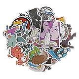 #9: Magicdeal 100pcs Random Cartoon Stickers Car Skateboard Fridge Laptop Decal Stickers