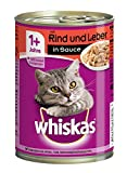 Whiskas Dose Adult 1 plus mit Rind und Leber in Sauce, 400 g