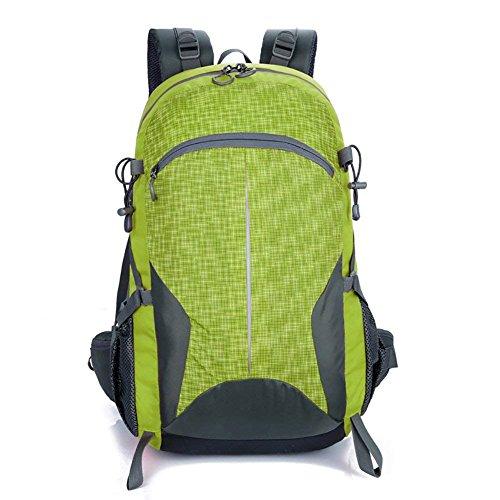 ZMLSXU Outdoor-Große Kapazität Rucksack Reisetasche Praktische Camping Klettern Reisen Bergsteigen Rucksack Multicolor Auswahl (Farbe : Green)