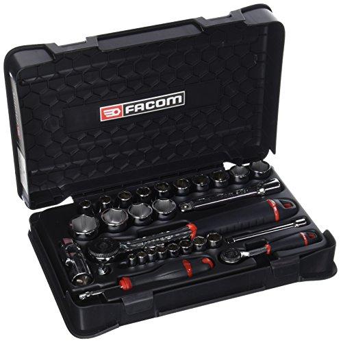 "'Facom RS. 161–1PB Coffret de SERRAGE, schwarz, 1/4""/1/2, Set 33-teilig"