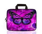 iColor Schmetterling Netbook- und Chromebook- Tasche Notebooktasche Laptoptasche Schutzhülle für Größe (15 15,4 15,6 Zoll) mit Tragegriff DEIHB15