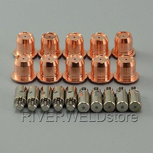 20PCS PR0105 ELECTRODO DE PLASMA Y PD0102-10 40A PLASMA TIP FIT TRAFIMET ERGOCUT S45