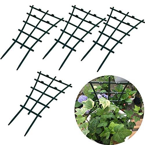 Dytiying plastica sovrapposto garden plant fai da te di sostegno per rampicanti fiore supporta verde scuro