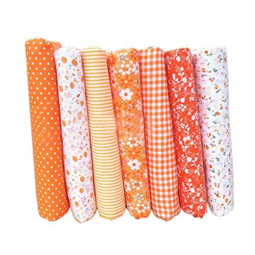 Yangge Yujum 7pcs Baumwolltuch Textilhandwerk Stoff Bundle Patchwork Stoff DIY Nähen Quilten Blumenmuster