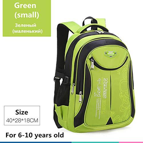 Schultasche für Kinderrucksack-Tasche Kinderschulsack Teen Junge Mädchen Hohe Kapazität wasserdichte Ausrüstung Kinderschultüte Mochila Kleines Grün