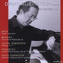 David Rubinstein - In Recital, Vol.1