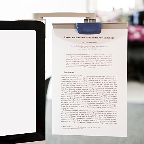 Documento Holder monitor mounted 360 ° Revolving Paper Clip copyholder 72119