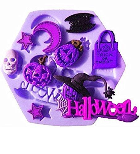 Inception pro infinite stampo in silicone per uso artigianale di zucche - teschio - stella - luna - pipistrello - strega - halloween