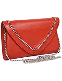 Jasbir Gill Envelope Clutch With Chain & Whipstitch Detail, JGSLCL-424