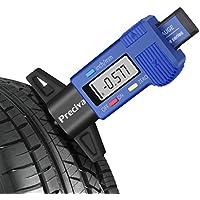 Preciva LCD Digital Medidor de Profundidad del Neumático / de Rodadura del Neumático de Profundidad del Espesor para Bicicletas Coches Furgonetas etc 0-25,4mm/Azul