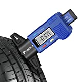 Digital Tread Depth Gauge, Preciva 0-1.49 Inch Tyre Tread Gauge LCD Tread Checker Measurements Tester for Cars, Vans, Trucks