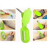 readycor (TM) venta caliente 1pcs al por mayor pescado herramienta fácil de pescado escala rascador plano peces limpiador + pescado cuchillo cocina herramientas C5