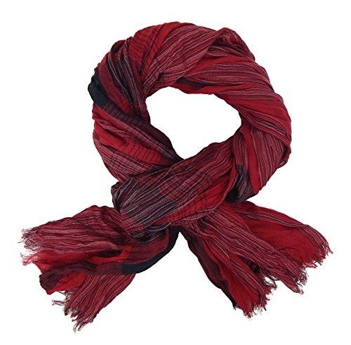 Ella Jonte Écharpes foulard d'homme élégant et tendance Casual-style rouge noir