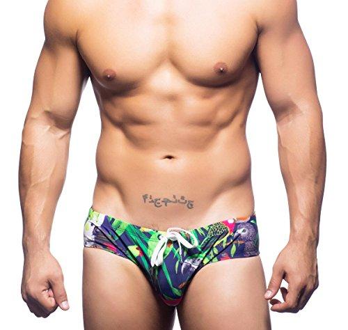 Andrew Christian Badehose Tropical Birds Bikini 7623, Blau XL (Andrew Christian Swimwear)
