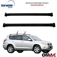 Alu Barre Portatutto Portapacchi Nero Toyota RAV4III 2006–2011con certificazione TÜV/ABE
