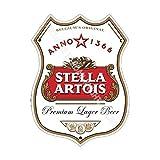 Stella Artois Bar Anuncio Cerveza Antigua Pub Bebidas Bomba Insignia Fábrica de Cask Keg Calado Real Ale Pinta Alcohol Lúpulo Forma Metal/Cartel Acero Para Pared - 27 x 20 cm