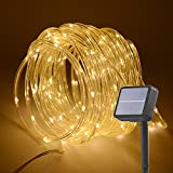 HAHOME Solar Powered String Lights 33Ft 132 LEDs Gardern Indoor Outdoor Fairy Li