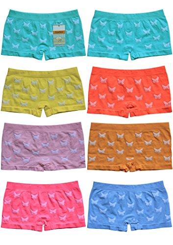 6er Pack sportliche Mädchen Pantys Hipster Shorts Greenice Gr. 98 - 164 (110-122) (6 Unterwäsche Mädchen)