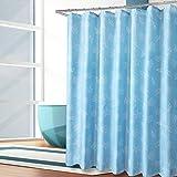 Duschvorhänge,Bad trennwand vorhang Wasserdicht Anti schimmel Verdicken sie Polyester stoff blau-F 200x210cm(79x83inch)