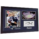 S&E DESING Tom Brady New England Patriots NFL Signed Autograph American Football gerahmt MDF