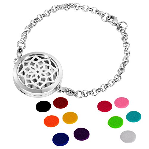 housweety-aromatherapy-essential-oil-diffuser-flower-necklace-link-bracelet-stainless-steel-locket-p