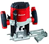 Einhell TC-RO 1155 E - Fresadora, profundidad regulable, pinzas de apriete 6/8 mm, 1100 W, 230-240 V, color rojo y negro