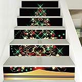 Treppenaufkleber Neue Weihnachtsdekoration Wandaufkleber Persönlichkeit Verkleiden Sich Weihnachtsbaum Treppe Aufkleber 18CM*100CM*6 Stück