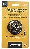 Brandneu für 2017-log burner- magnetisch Ofenrohr thermometer-temperature gauge-must haben mit einem Elektroherd fan-