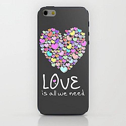 Inonler custodia La Ragazza di Amore e di Zebra Zebra ()(iPhone 6/6S,Rosa) Multicolore
