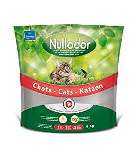 Nullodor Litière en Silice pour Chat 6 kg