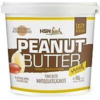 Mantequilla de Cacahuete de HSN   Textura Suave y Cremosa - Peanut Butter Smooth - 100% Natural   Apto Vegetariano, Sin grasa de palma, Sin grasa trans, Sin azúcar ni sal añadidos, 1000g