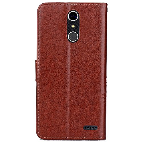 Double Magnetic Back Sucktion Retro Style PU Leder Flip Stand Case mit Kickstand und Wallet Beutel Funktion für ZTE X4 ( Color : Brown ) Brown