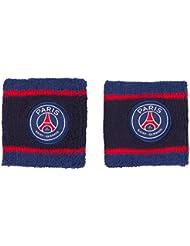 2 poignets éponges PSG - Collection officielle Paris Saint Germain - Taille unique