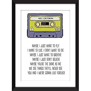 Oasis Live Forever Lyrics Unframed Print / Ungerahmter Druck