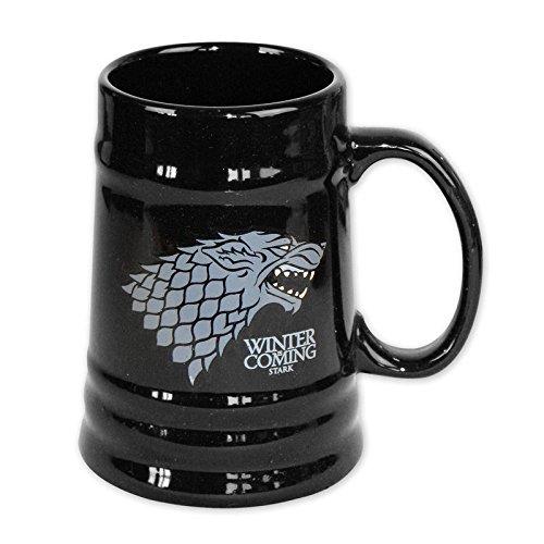 House Stark beer mug, black. Game of Thrones